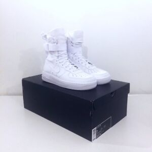 mieux aimé 9ad66 e004a Details about Nike Air Force 1 SF QS Special Field Hi AF Triple White /  Blanc UK 6 Brand New I