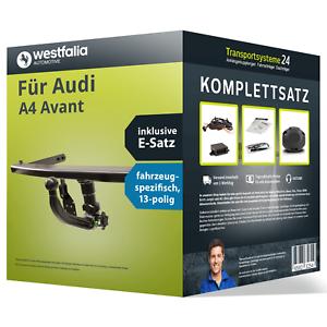 Anhaengerkupplung-WESTFALIA-abnehmbar-fuer-AUDI-A4-Avant-E-Satz-NEU-AHK