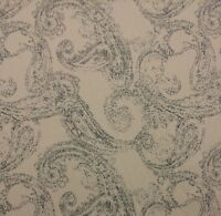 Ethan Allen 87687 Allie Steel Blue Paisley Slipcovers Upholstery Fabric 1.7 Yard