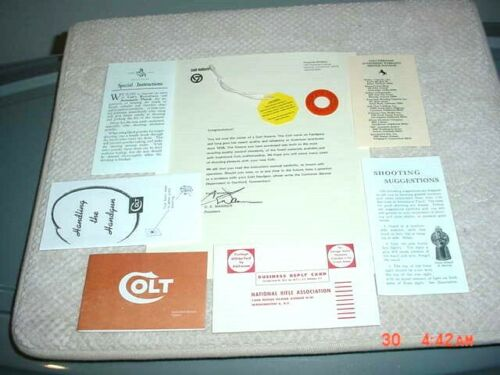 Colt Python 1955 to 1977 Complete Paperwork Package Free Shipping!