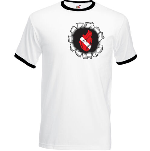 Dive cœur à l/'intérieur homme drôle plongée T-shirt Diver équipement palmes masque