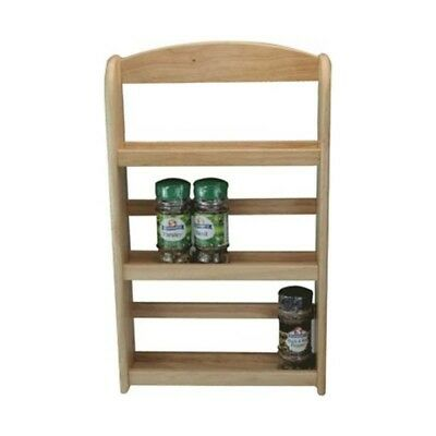 3 Tier Wooden Spice Rack Herb Storage Holder Free Standing