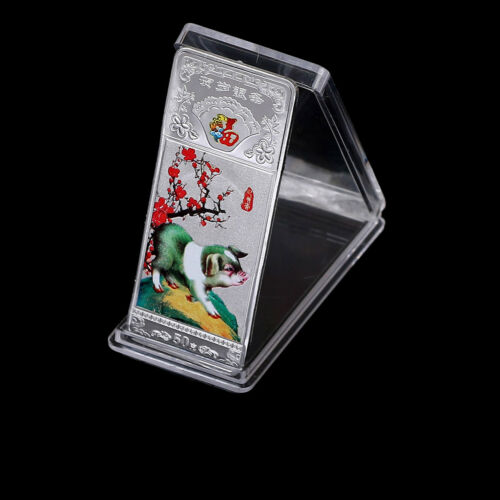 Year of the Pig Souvenir Coin Silver Plated Commemorative Medal Tourism Gifts SP