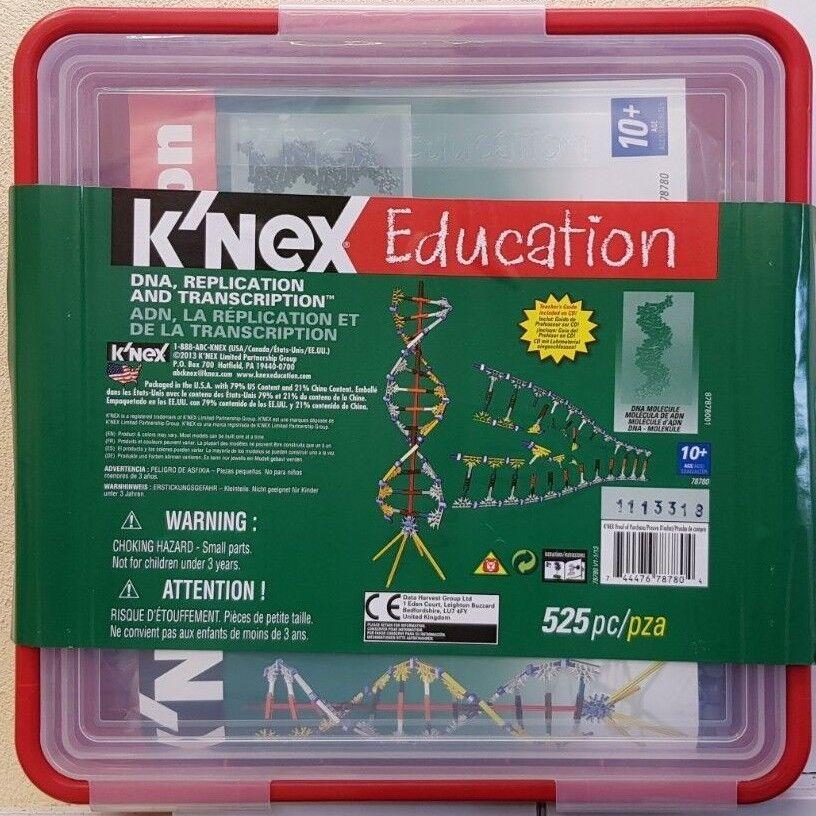 KNEX  Education Education Education STEM DNA, REPLICATION & TRANSCRIPTION 78780 NEW bc5143