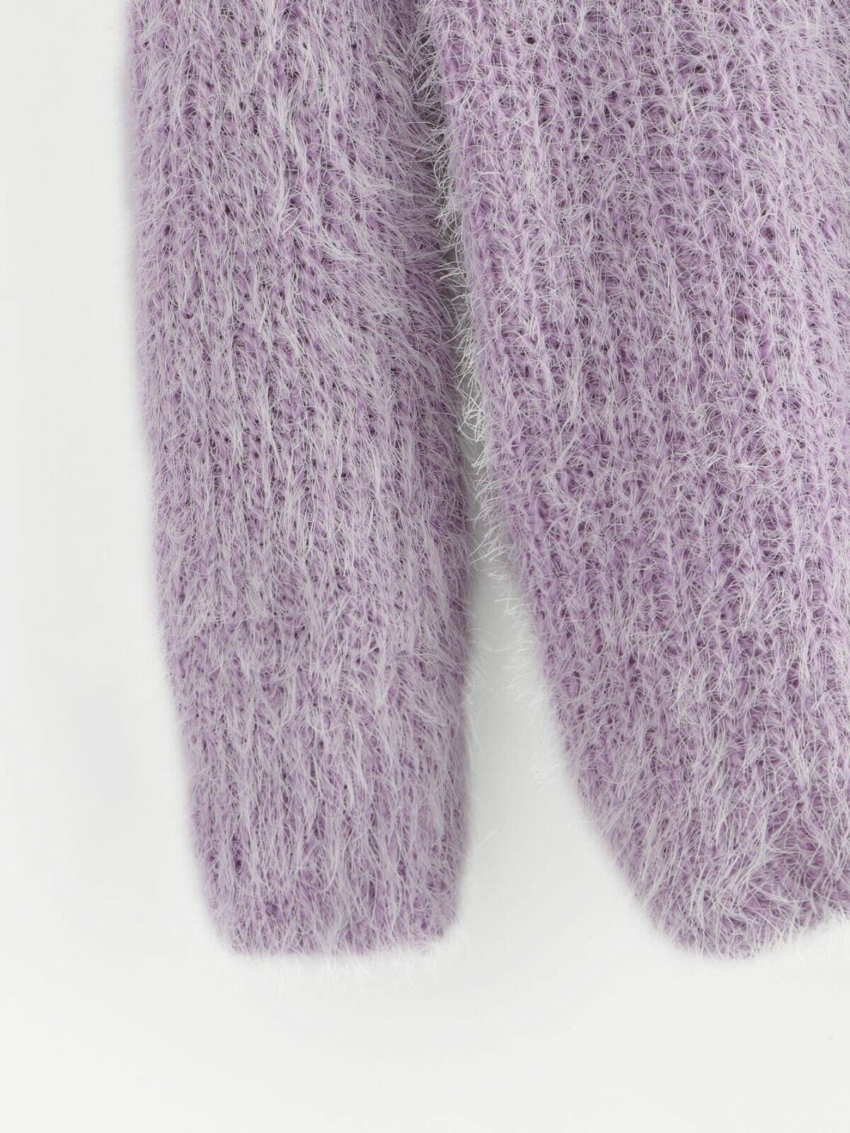 "Fuzzy Lavender Sweater One Size (fits up to a 32""-36"" b"