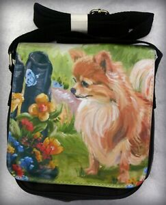 CHIHUAHUA-LONG-HAIRED-DOG-SHOULDER-BAG-SANDRA-COEN-ARTIST-OIL-PAINTING-PRINT