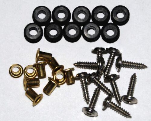 10 Sets of Servo Grommets JR and Others HiTec Eyelets /& Screws for Futaba