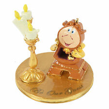 Disney Classic Beauty & The Beast Lumiere & Cogsworth Indoor Ornament Decoration