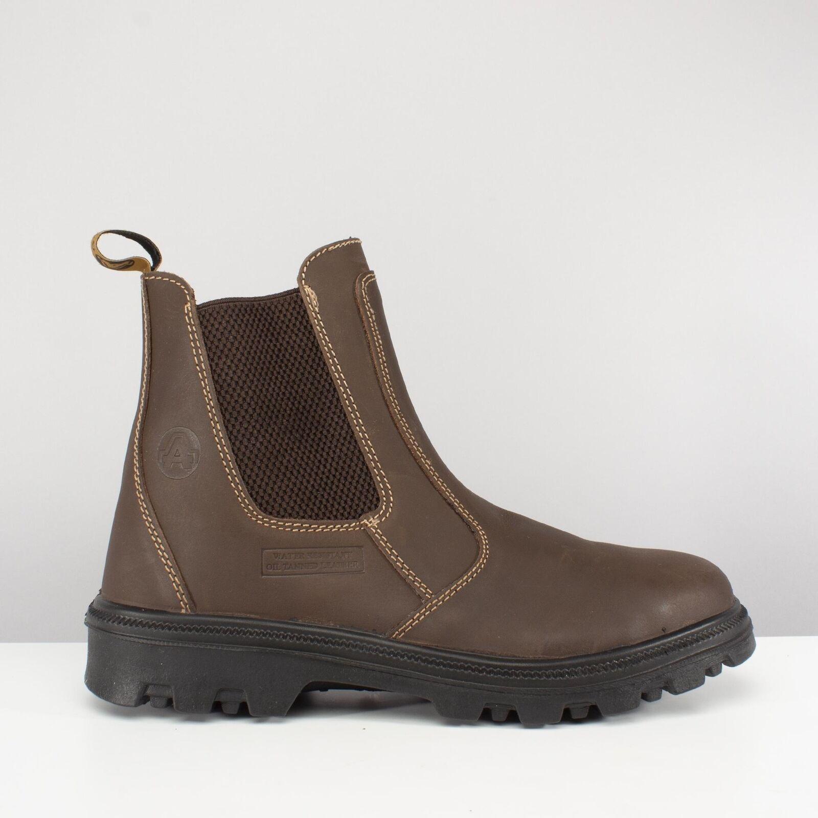 Amblers Seguridad FS131 Puntera Para hombre botas Distribuidor Chelsea antiestático de seguridad marrón