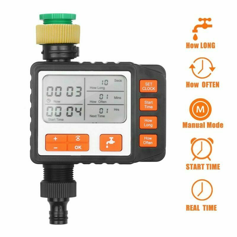 Digital Water Timer Programmable Single Outlet Automatic Watering Tools Outdoor