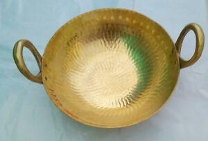 Peetal-Brass-Kadai-Deep-Frypan-Cooking-Pot-Pan-Designer-Serving-Wok-1-Litre