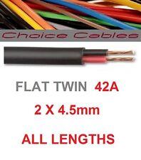 AUTOMOTIVE FLAT TWIN CABLE 2 CORE 12 VOLT 4.5mm 42 AMP AUTO CAR VEHICLE WIRE 1m