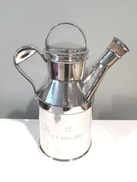Vintage Art Deco Silver Plate Milk Can Jug Cocktail Shaker by Reed & Barton 64oz