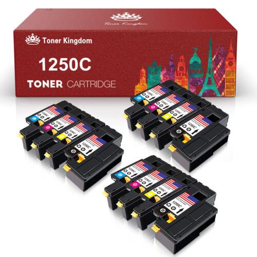 12pk Toner Color Set For Dell 1250 C C1760NW C1765NF C1765NFW 1350cnw 1355cnw