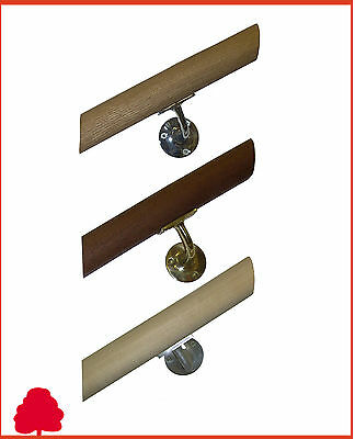 Handrail Round Mopstick 44mm Unfinished - Choice of Species & Lengths