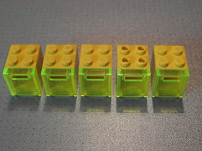 4345 4346 5 White Container Post Lego Mail Boxes 2x2x2