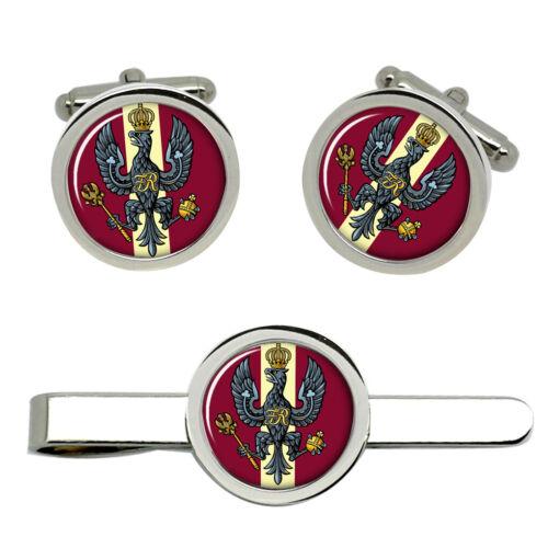 King/'s Royal Hussars British Army Gemelos y clip de corbata Set