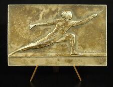 Médaille Fleuret escrime épée sabre fencing sport 69mm Gustave Fischweiler medal