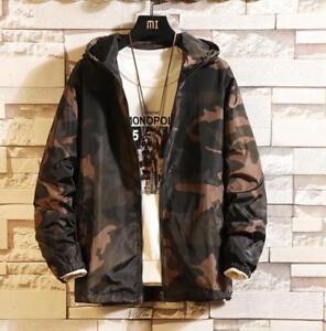 Japaneses capucha M 5xl Mens abrigo Hot deportes de Outwear estilo camuflaje chaqueta corto pCfxqA4w