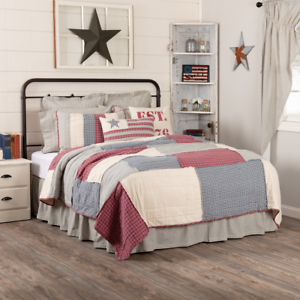 VHC Hatteras Patch Americana Quilt (Your Choice Size & Accessories)