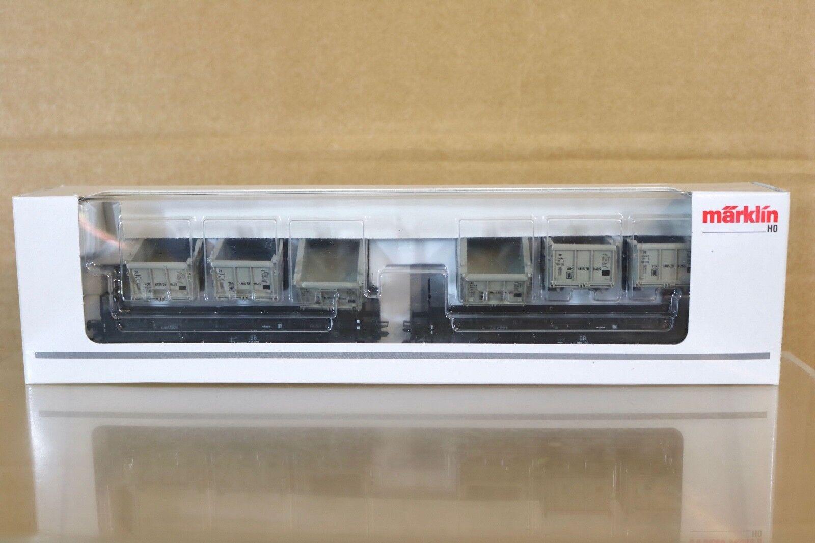 MARKLIN MÄRKLIN 48943 DB VON HAUS zu HAUS OPEN CONTAINER WAGON SET MINT BOXED nq