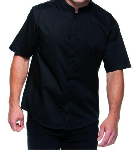 Da Uomo BAR Gear nero collo alla coreana cameriere personale Uniforme Smart Camicia M L e2 tt17