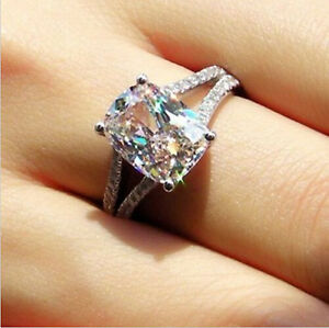image is loading sz5 11 round jewelry 10kt white gold filled - Topaz Wedding Ring