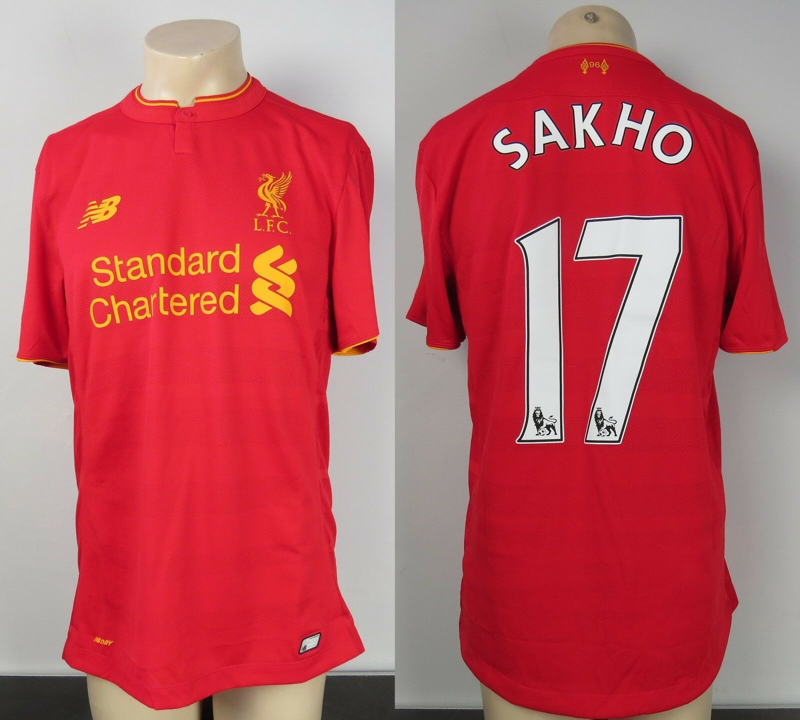 MATCH ISSUE SHIRT LIVERPOOL 201617 preStagione Home SOCCER JERSEY sakho 17