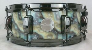 Click-Drums-Custom-5x12-Blue-Plasma-Wrap-10ply-Maple-Snare-Drum