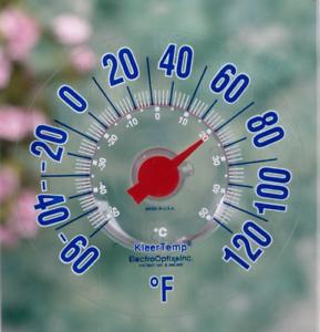 Kleertemp Outdoor Thermometer Kleer Temp Fahrenheit Made in USA Model KT-7