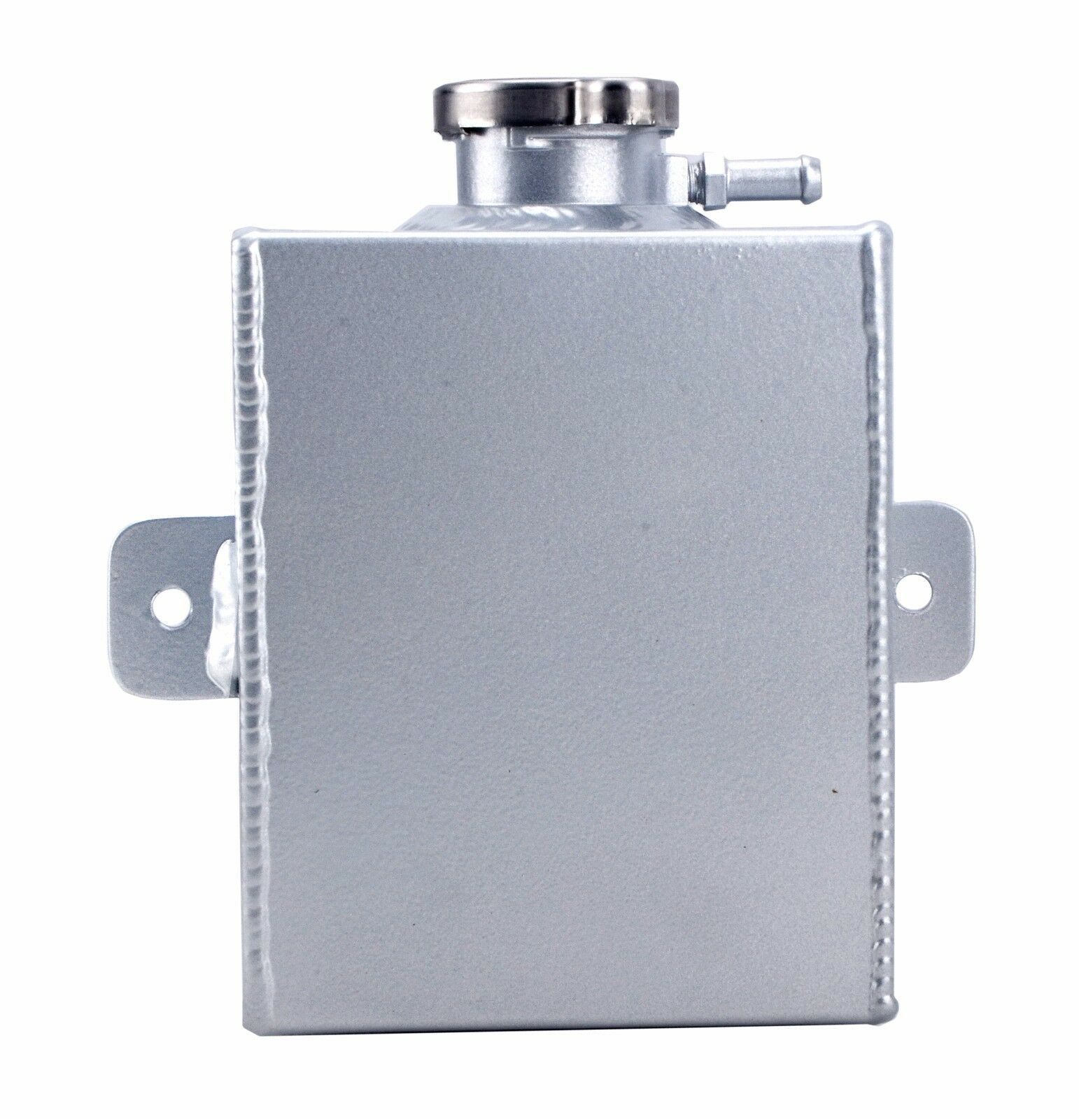 2.5L Capcity Aluminum Coolant Radiator Expansion Tank Bottle with Cap Silver