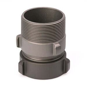 """Aluminum 1 1//2/"""" Female NH to 1 1//2/"""" Male NPSH Fire Hose Adapter"""
