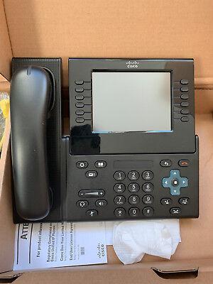 * Nuovo * Cisco 9971 C Cp K9 Unified Ip Phone Voip Con Cp-cam-c Videocamera Telefono-