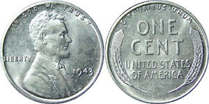 Two-1943-Lincoln-One-Cent-Wheat-Penny-Coin-US-Steel-NO-Copper-from-WWII