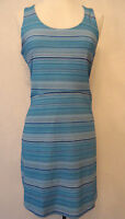 Summery Medium Tehama Blue Striped Outdoor Casual Golf Sports Dress
