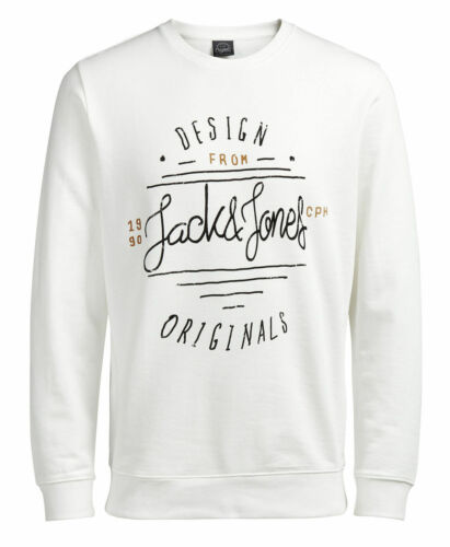 JACK /& JONES New Men's Crew Neck Sweatshirt /& Hooded Sweat Top Jumpers
