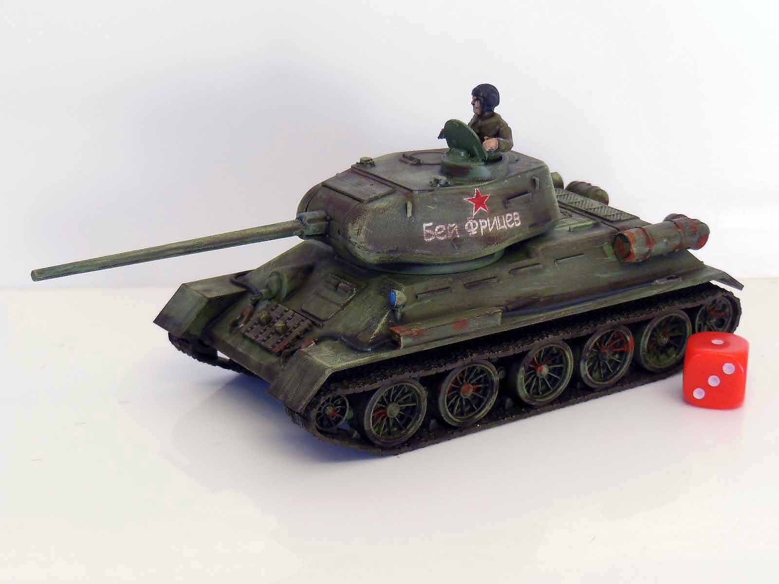 28mm Bolt Action Chain Of Command Soviet T34 Painted & Weathered R3