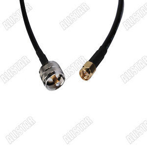 3FT-RG58-UHF-PL-259-Male-Plug-to-SMA-Male-RF-Pigtail-Cable-For-Wifi-Antenna-1M
