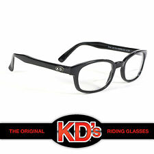 KD's Original Black Frame Clear Readerz Lens 2.50 KD Motorcycle Riding Glasses