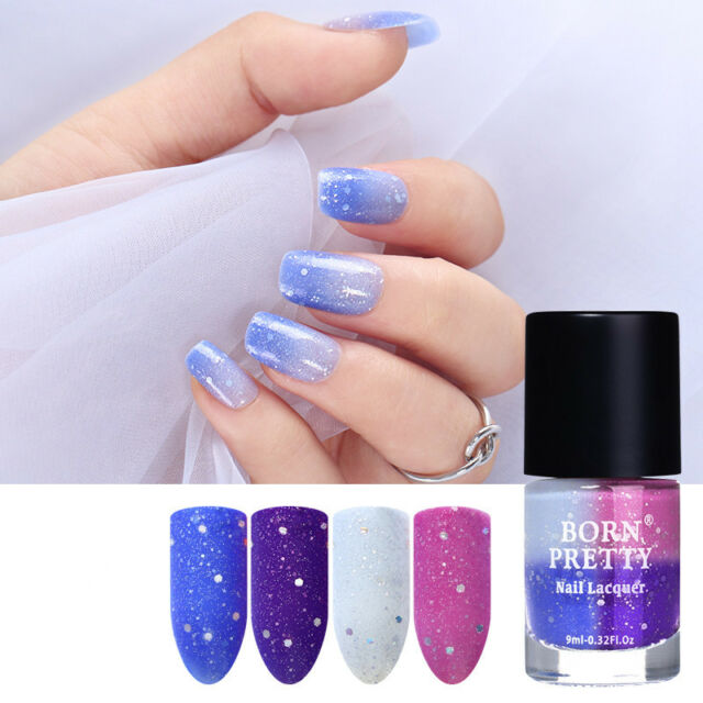 9ml Temperature Color Changing Thermal Nail Polish L Off Varnish Born Pretty