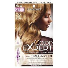 2 X Schwarzkopf COLOR EXPERT Omega Plex Permanent Colour 7.0 Dark Blonde