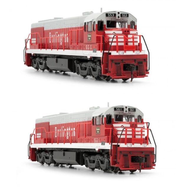 Arnold Burlington CB&Q GE U25C Diesel DCC Ready #553 / #561 N Scale Locomotives