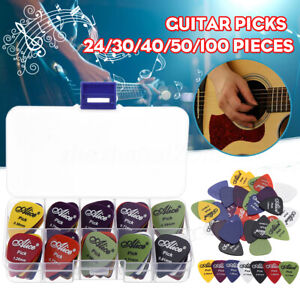 24-100X-Acoustic-Electric-Guitar-Picks-Plectrum-Various-6-thickness-Pick-Box