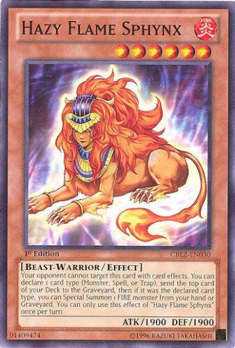 CBLZ EN030 1ST ED 3X HAZY FLAME SPHYNX COMMON CARDS