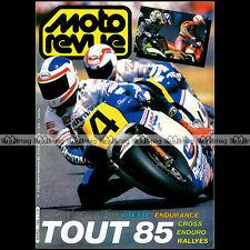 MOTO REVUE N°2728 FREDDIE SPENCER, SALON DE MILAN ★ SPECIAL BILAN SPORTIF 1985 ★