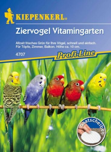Ziervogel 4707 Vitamingarten *Saatscheibe* frisches Grün für Vögel Kiepenkerl