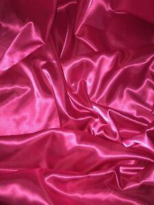 deep pink Satin fabric costume curtain lining wedding decoration crepe fabric