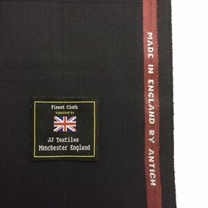 6c03f55115c2 ANTICH & SONS Dark Navy Window Pane Check Super 120's Wool Blend ...
