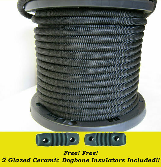 3/16 x 500 ft Dacron Polyester Black Antenna Support Rope. Available Now for 55.00