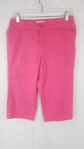 St-Johns-Bay-Hot-Pink-Bermuda-Shorts-Knee-Length-Bottoms-Womens-Size-4
